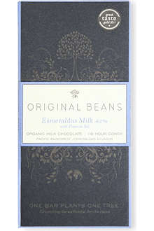 ORIGINAL BEANS Esmeraldas Milk 42% milk chocolate bar with Fleur de Sel 70g