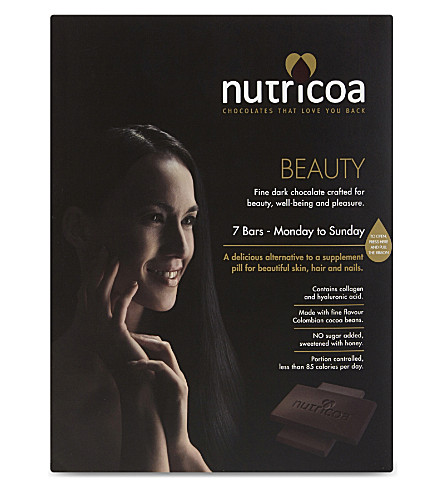 NUTRICOA Beauty fine dark chocolate 7 x 15g