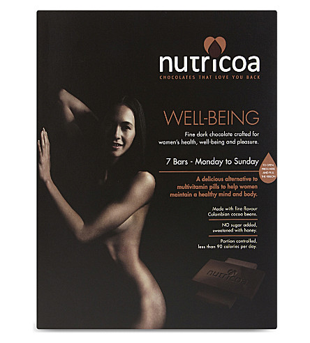 NUTRICOA Well-being fine dark chocolate 7 x 15g