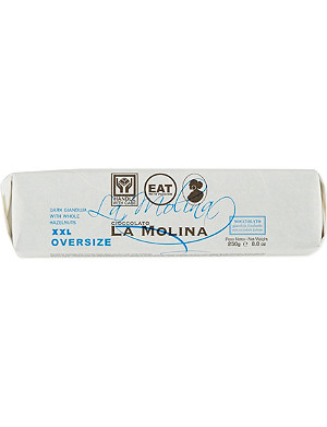 LA MOLINA Extra large dark choclate bar with hazelnuts 250g