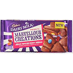 CADBURY Marvellous Creations milk chocolate jelly popping candy shells 200g