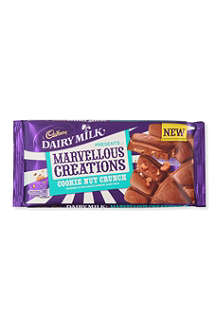 CADBURY Marvellous Creations milk chocolate cookie nut crunch 200g