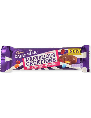 CADBURY Marvellous Creations milk chocolate jelly popping candy shells 47g