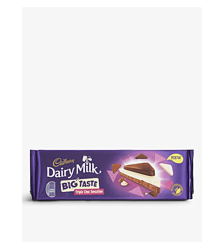 CADBURY Big Taste Triple Choc Sensation chocolate bar 300g