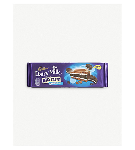 CADBURY Big Taste Oreo crunch chocolate bar 300g