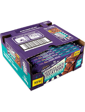 CADBURY Cookie Nut Crunch chocolate bar case 12 x 200g