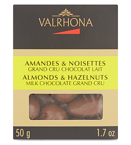 VALRHONA Milk chocolate Grand Cru almonds & hazelnuts 50g