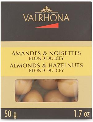 VALRHONA Dulcey blonde almonds & hazelnuts 50g