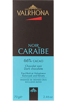 VALRHONA Carabe dark chocolate bar 70g