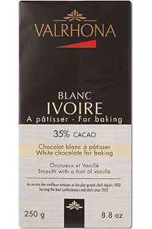 VALRHONA Ivoire cooking chocolate 250g