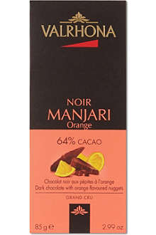 VALRHONA Manjari Orange dark chocolate bar 85g