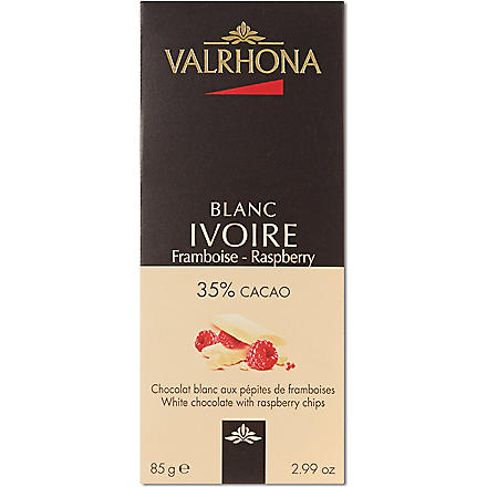 VALRHONA Ivoire raspberry chocolate 85g