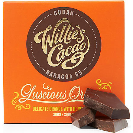 WILLIES Cuban Orange Baracoa 65 milk chocolate bar 50g