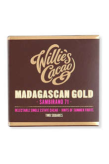 WILLIES Madagascan Gold dark chocolate bar 80g