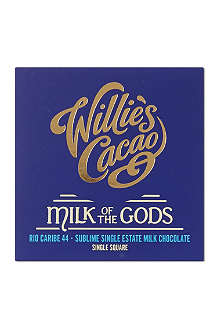 WILLIE'S CACAO Milk of the Gods Rio Caribe chocolate bar 50g