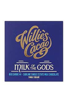 WILLIES Milk of the Gods Rio Caribe chocolate bar  50g