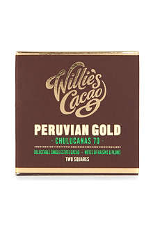 WILLIES Peruvian Chulucanas 70 chocolate bar 80g