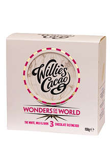 WILLIES Milk, White and Dark Chocolate Wonders of the World gift box 150g