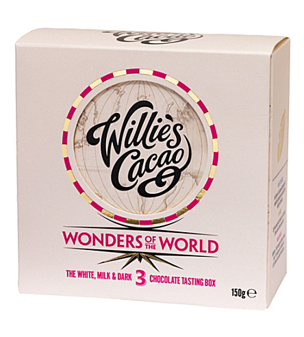 WILLIES Wonders of the World chocolate tasting box 150g