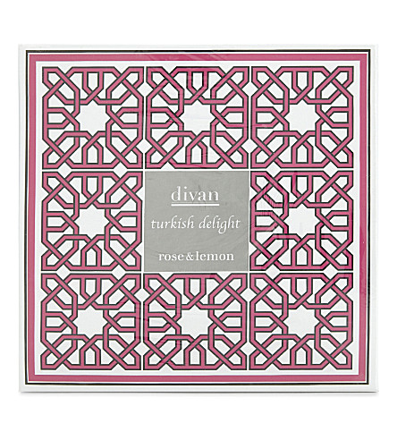 DIVAN Rose and lemon turkish delight box 500g