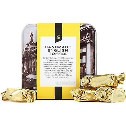 SELFRIDGES SELECTION Selfridges small toffee tin 100g