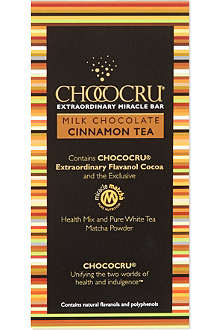 CHOCOCRU Milk chocolate cinnamon tea bar 75g