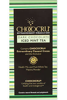 CHOCOCRU Dark chocolate iced mint tea bar 75g