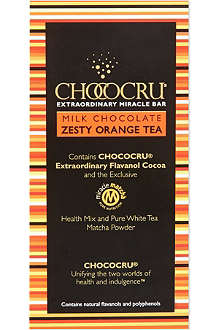 CHOCOCRU Milk chocolate zesty orange tea bar 75g