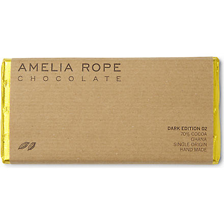 AMELIA ROPE Dark Ghanaian chocolate bar