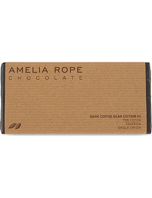 AMELIA ROPE Dark coffee bean chocolate 100g