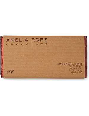 AMELIA ROPE Dark chocolate ginger bar