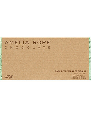 AMELIA ROPE Dark peppermint chocolate 100g