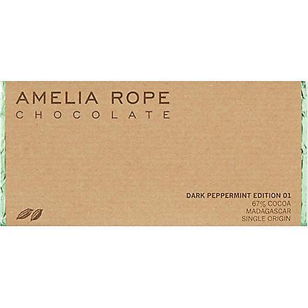 AMELIA ROPE Dark peppermint chocolate 100g