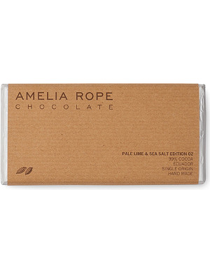 AMELIA ROPE Pale lime & sea salt chocolate bar
