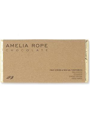 AMELIA ROPE Pale lemon and sea salt chocolate bar