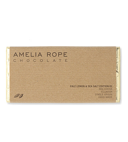 AMELIA ROPE Pale lemon and sea salt chocolate bar