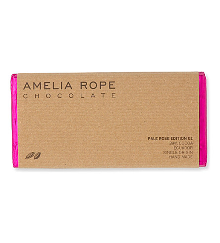 AMELIA ROPE Milk rose chocolate bar