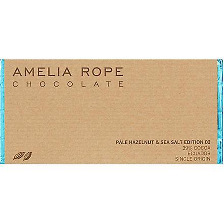 AMELIA ROPE Pale hazelnut and sea salt chocolate 100g