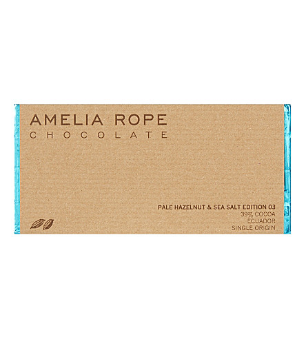AMELIA ROPE Pale hazelnut and sea salt chocolate 100g