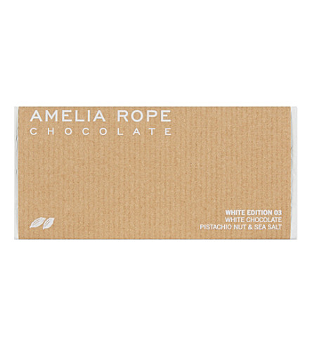 AMELIA ROPE White Edition 03 pistachio and sea salt chocolate 100g