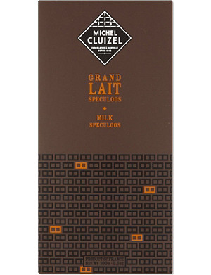 MICHEL CLUIZEL Grand Lait Speculoos chocolate bar 100g