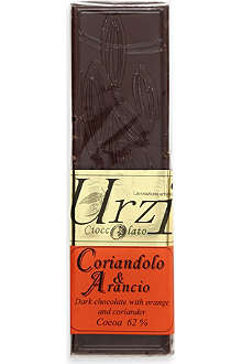 URZI Coriandolo & Arancio dark chocolate bar 100g