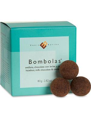 ENRIC ROVIRA Hazelnut, milk chocolate and cinnamon bombolas 80g