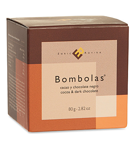 ENRIC ROVIRA Dark chocolate and cocoa bombolas 80g