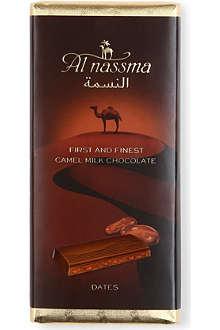 AL NASSMA Camel milk chocolate bar with Dates 70g