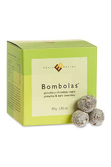 ENRIC ROVIRA Dark chocolate and pistachio bombolas 80g