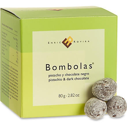 Dark chocolate and pistachio bombolas 80g
