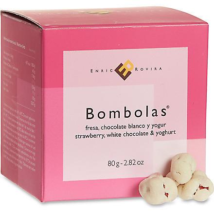 ENRIC ROVIRA Strawberry, white chocolate and yoghurt bombolas 80g