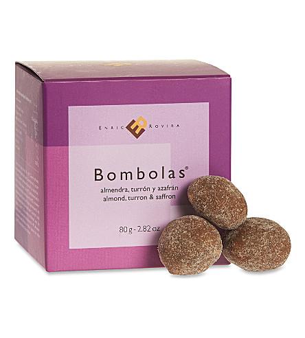 ENRIC ROVIRA Almond, turron and saffron bombolas 80g