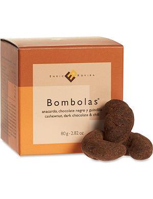 ENRIC ROVIRA Cashew nut, dark chocolate and chilli bombolas 80g